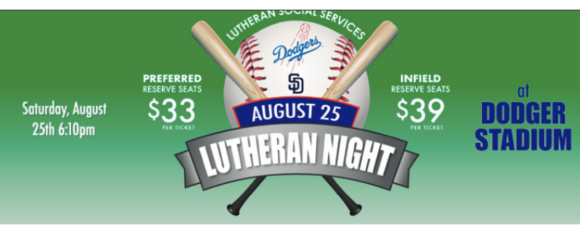 Lutheran Night at Dodger Stadium – August 25