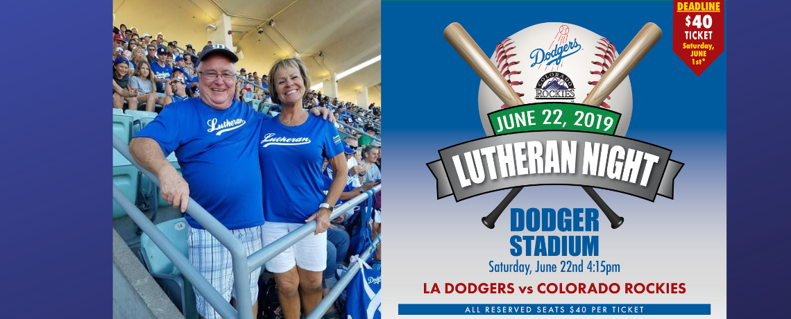 Lutheran Night at Dodger Stadium Benefiting LSS